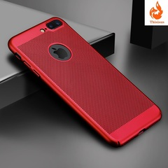 Ultra Slim Phone Case For iPhone 6 6s 7 8  Hollow Heat Dissipation Cases Hard PC For iPhone 5 5S SE red iphone6/6s