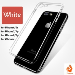 Clear Silicon Soft TPU Case For 7 7Plus 8 8Plus X Transparent Phone Case For iPhone 5 5s SE 6 6s White iphone6/6s-4.7