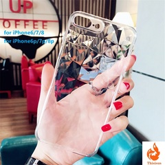 For iPhone 6 6s 7 8 Plus X XR XS Max Soft Phone Cover for iPhone 7 Luxury Transparent Ultra Thin White iphone6/6s-4.7