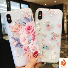 Flower Silicon Phone Case For iPhone 7 8 Plus Rose Floral Cases For iPhone X 8 7 6 6s Soft TPU Cover pic5 oppo r9