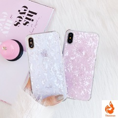 Glitter Phone Case For iPhone 7 8 Plus Dream Shell Pattern Cases For iPhone XR XS Max 7 6 6S Plus White iphone6/6s-4.7