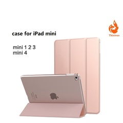 Case for iPad mini 1/2/3 Ultra Slim Fit Leather Case Smart Rubberized Back Magnet Cover pic1 iPad mini1/mini2/mini3
