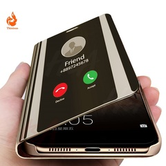 Smart Mirror Flip Case For Samsung Galaxy j7prime,j7 2017,s7,s7edge,S10plus,S9,S8plus,S8,note8Cover black samsung s10 plus