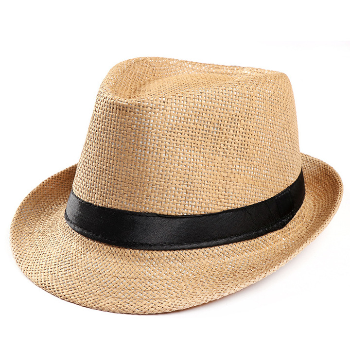 7d8d45bf4 2019 new hat men and women summer linen visor hat top hat sun hat outdoor  straw hat Khaki One size