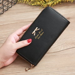 Vintage quality PU Leather Long Fashion Women Wallets Designer Lady Party Wallet Female Card Holder black all size
