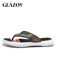Men Shoes Solid Flat Bath Slippers Summer Sandals Indoor & Outdoor Slippers Beach Shoes Black 7.5