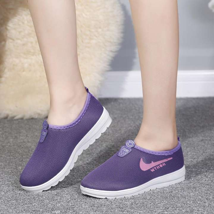 2019 Fashion Women's Shoes Breathable Sneakers Sport Shoes  Running shoes Purple 36
