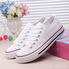 BOMIMI Couple Shoes Women Men Canvas Shoes Fashion Summer Casual Sneakers Lace-up Shoes white 6