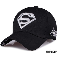 Superman Cap Casual Outdoor Baseball Caps For Men Hats Women Snapback Caps For Adult Sun Hat Black. White