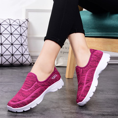 Soft bottom breathable sneakers casual shoes non-slip shoes comfortable red 36