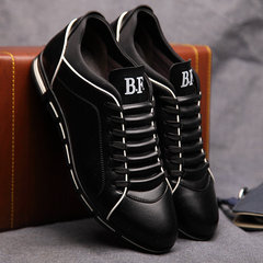 Big Size 38-48 Men Casual Shoes Sneakers Fashion Leather Shoes for Men Summer Men's Flat Shoes Black 6