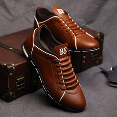 Big Size 38-48 Men Casual Shoes Sneakers Fashion Leather Shoes for Men Summer Men's Flat Shoes Brown 8.5