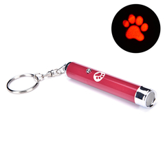 Creative Funny Pet LED Laser Toy Cat Laser Toy For Cats Bright Animation Mouse Shadow Red One size