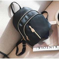 Al Sahhia Ready Stock Middle Straight Zip Backpack Casual Lady Beg Black one size Black one size