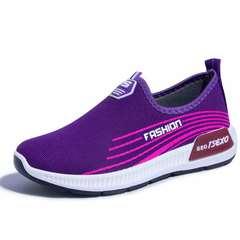 women shoes women flat shoes sport shoes mesh shoes casual shoes female shoes Purple 39