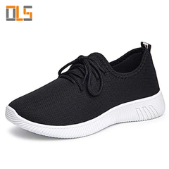 Fashion Sneakers microporous practical and beautiful profile safety women sport work shoes Black 35