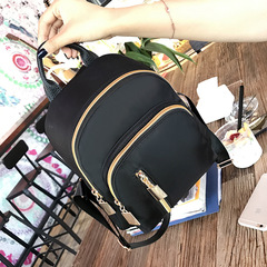Al Sahhia Ready Stock Middle Straight Zip Backpack Casual Lady Beg Black one size