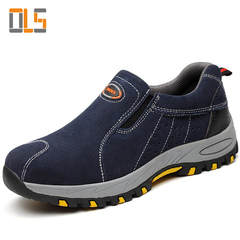 Fashion Sneakers Safety Work Shoes Men Fashion Summer Breathable Slip On Casual Boots Mens Blue 5