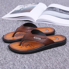 Men's Shoes beach flip-flops fashion clip toe slip  flip-flops casual sandals and slippers NO.1 40