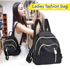 Fashion Woman Bag handbag Al Sahhia Ready Stock Middle Straight Zip Backpack Casual Lady Beg Black one size
