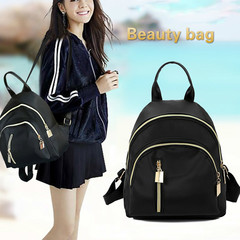 Fashion Woman Bag handbag Al Sahhia Ready Stock Middle Straight Zip Backpack Travel Bag Black one size