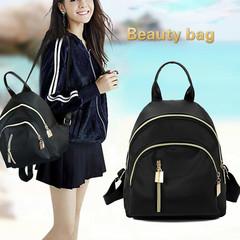 Fashion Woman Bag handbag Al Sahhia Ready Stock Middle Straight Zip Backpack Travel Bag Black one size