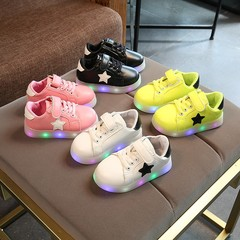 Kids LED Sneakers Colorful Flashing Light Shoes pink 21