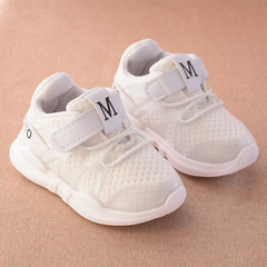 new fashionable net breathable pink leisure sports running shoes for girls white shoes for boys white 4