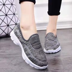 Women's single shoes casual sneakers gym sports Ladies Shoes  Soft bottom breathable non-slip gray 38