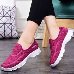 Women's single shoes casual sneakers gym sports Ladies Shoes  Soft bottom breathable non-slip red 38
