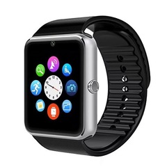 GT08 Wearable Smart Watch With Hands-Free Call Phone Clock Push Message For IOS And Android silver silver one size