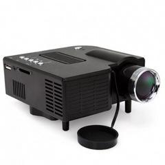 Portable Mini LED Projector Multimedia Home Movie TV Cinema Theater Digital LED Projector black 12cm