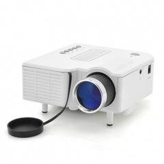 Portable Mini LED Projector Multimedia Home Movie TV Cinema Theater Digital LED Projector white 12cm