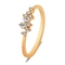 New Fashion Weave Crystal Rings For Women Gold/Silver Color Female Ring Party Jewelry Wholesale Gold 7