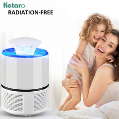 USB Electronics Mosquito Killer Trap Moth Fly Wasp LED Light Lamp Bug Insect Lights Killing Repeller White Big