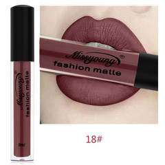 Lipstick Matte  Waterproof Ultra Matte Liquid Lipstick Moisturizer Huddan Lipstick Pink Red #18