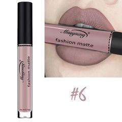 Lipstick Matte  Waterproof Ultra Matte Liquid Lipstick Moisturizer Huddan Lipstick Pink Red #6