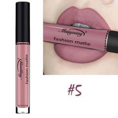 Lipstick Matte  Waterproof Ultra Matte Liquid Lipstick Moisturizer Huddan Lipstick Pink Red #5