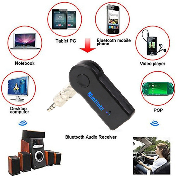 Bluetooth Transmitter Receiver for Car Mini Audio 3.5mm Jack Handsfree for Car Aux in Home and Mp3