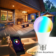 Smart Voice Remote Control Color Changing LED Bulb Compatible with Alexa Apple and Google Assistant One Color 4 inch 7W