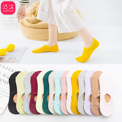 5 Pcs Pure Cotton Boat Socks for Women Summer Boat Socks Cotton  For Women In Spring And Autumn Random Color ( 5 x socks ) one size fit for all