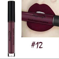 Lipstick Matte  Waterproof Ultra Matte Liquid Lipstick Moisturizer Huddan Lipstick Pink Red #12