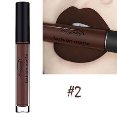 Lipstick Matte  Waterproof Ultra Matte Liquid Lipstick Moisturizer Huddan Lipstick Pink Red #2