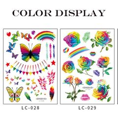 Fashionable Tattoo Sticker Disposable Water Transfer Rose Sticker Party Traveling and Body Art Gift. LC-029 as picture