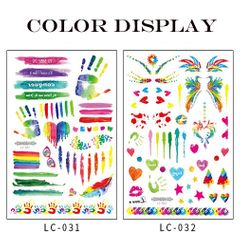 Fashionable Tattoo Sticker Disposable Water Transfer Rose Sticker Party Traveling and Body Art Gift. LC-031 as picture
