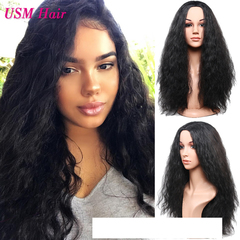 European and American Fashion Ladies Wig Corn Perm Curly Long Hair women's wigs human hair black size one