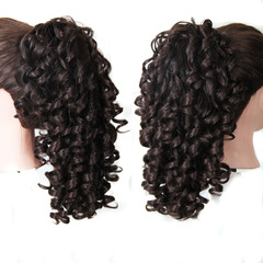 Hot-selling wig accessories Long ponytail braid curls Braided Wigs Long Hair braided hair dark brown 20inch