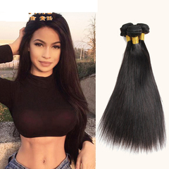 Women's Wig curtain Long straight  hair Wigs long black 20inch