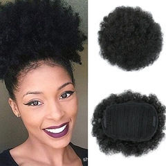 Hot new products Woman's fluffy explosive head wig bracts Wigs Accessories Hair Afro puff black size one