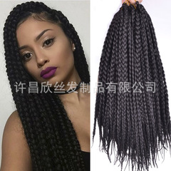 New Women's Wigs on the Market 3X box braid hair Wig Accessories Long braided wigs black 18inch